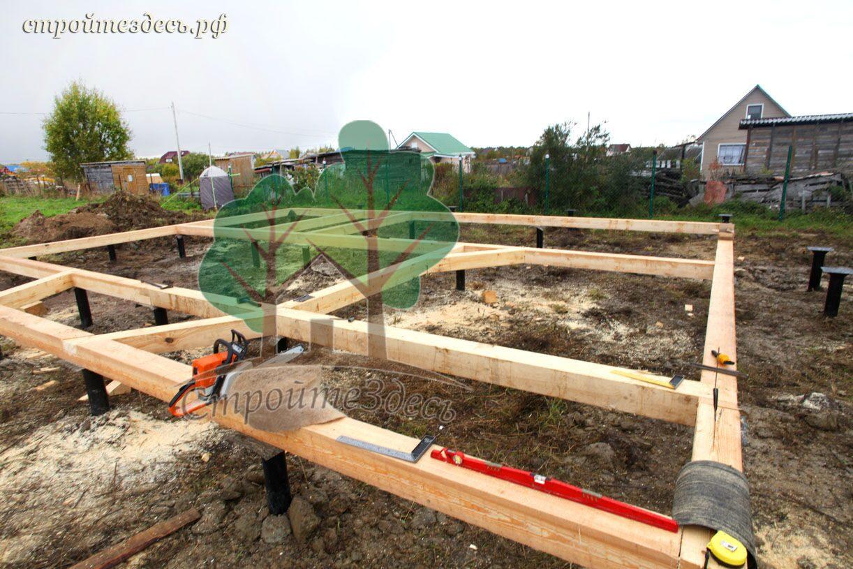 Фундаменты для каркасных домов своими руками 95